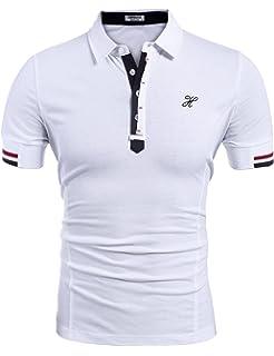30f4849c478a75 HOTOUCH Herren Poloshirt Polohemd Slim Fit Hemd Polo Shirt Kurzarm
