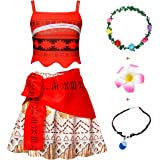 Cotrio Girls Princess Costume Toddler Kids Halloween Outfits Clothes Two-Pieces Crop Top Tassel Skirt Set for 2-8 Years