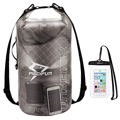 Boating Swimming 5L// 10L// 20L// 30L// 40L Roll Top Lightweight Dry Storage Bag Backpack with Phone Case for Travel Camping and Beach HEETA Waterproof Dry Bag for Women Men Kayaking
