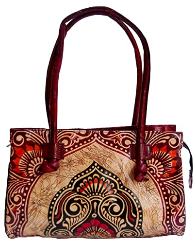 8056717476 Exclusive Batik Design Ethnic Hand Made Shantiniketan Leather Indian  Shoulder Bag  Handbags  Amazon.com