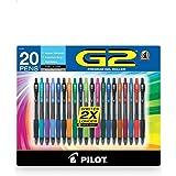 Pilot G2 Assorted Colors Gel Pen 20 Count