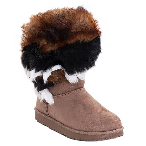 Toocool - Stivali bassi donna scamosciati interno pelliccia stivaletti  caldi scarpe 5192  36 44f189d6b32