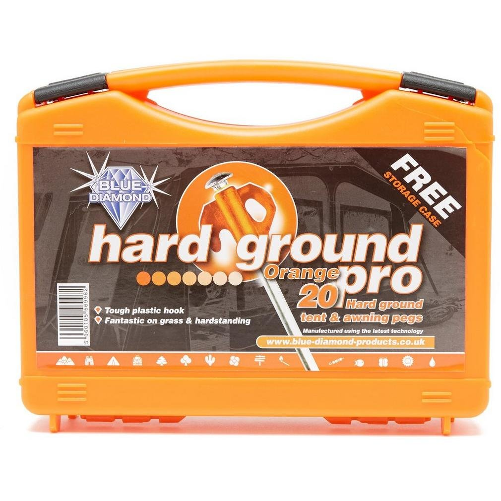 Blue Diamond Hard Ground Tent Pegs Orange One Size PEG230
