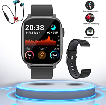 Montre Connectée Femmes Homme Smartwatch Etanche Bracelet Connecté Cardio Podomètre Bluetooth Tactile Smart Watch Montre Sport Fitness Trackers