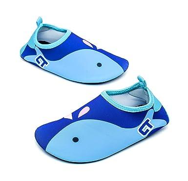 0d76f90afe Tkiames Jungen Mädchen Aquaschuhe Barfuß Schuhe Schwimmschuhe Badeschuhe  Wasserschuhe Surfschuhe Sportschuhe für Kinder