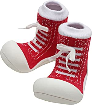 Attipas Sneaker Baby Walker Shoes, Red, Large