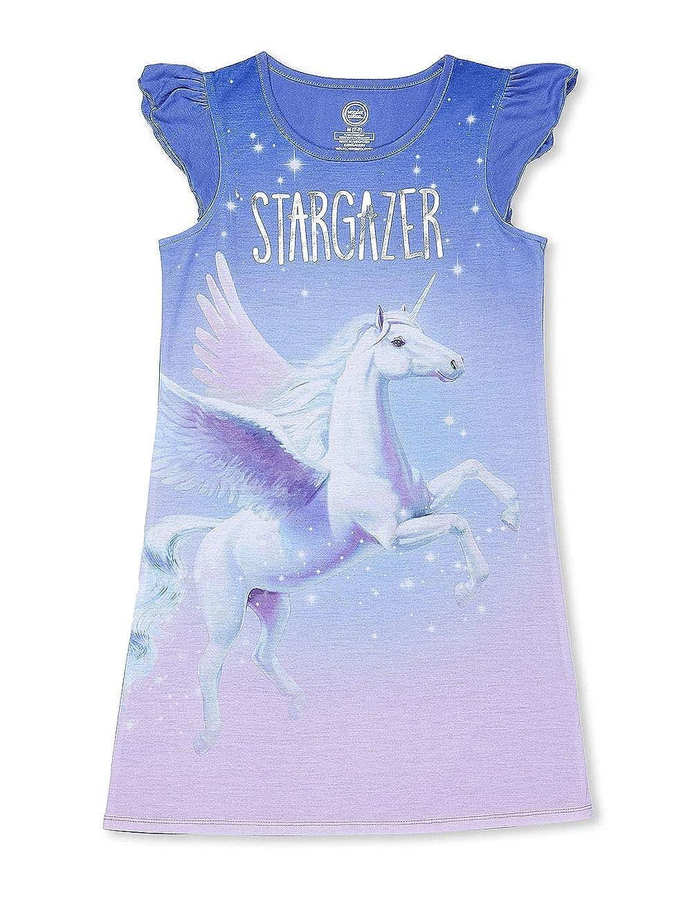 Stargazer Unicorn with Wings Purple Unicorn Nightgown for Girls