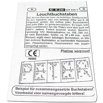 Leuchtbuchstaben: Amazon.de: Elektronik