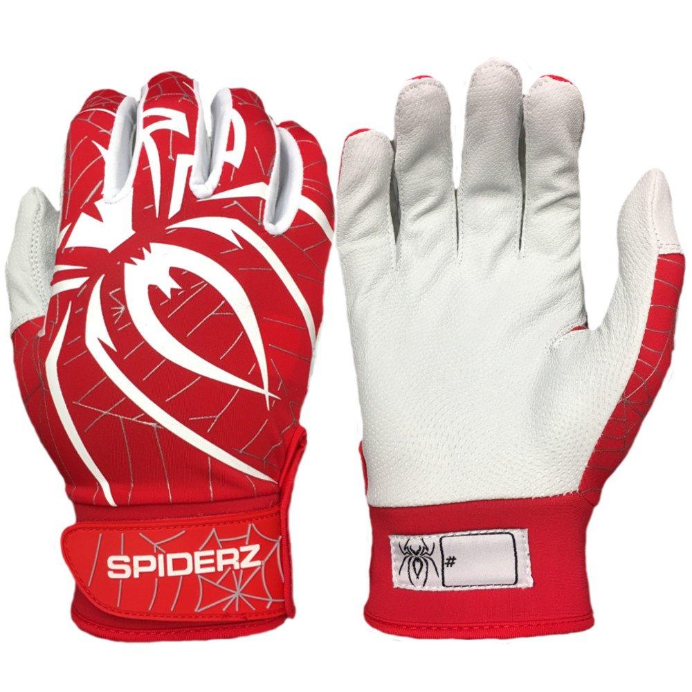 輝く高品質な Spiderzアルファ大人用野球/ソフトボールバッティング手袋 B07DTYLJY3 X-Small|レッド/ホワイト B07DTYLJY3 レッド X-Small/ホワイト X-Small, 化粧品ディスカウント店 ルージュ:9f738770 --- a0267596.xsph.ru