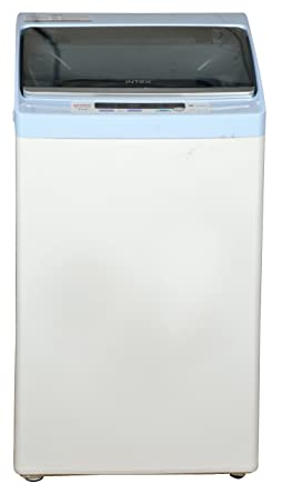 Intex 6 kg Fully-Automatic Top Loading Washing Machine (WMA62, Light Grey and Sky Blue)