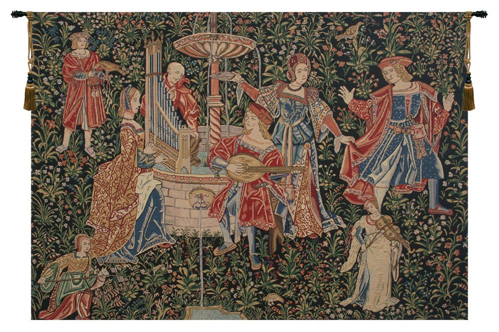 Medieval Concert Belgian Tapestry