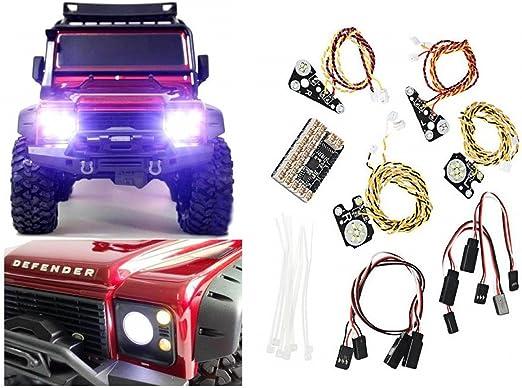 ARUNDEL SERVICES EU Kit de luces LED para Traxxas TRX4 Kit de luces de carretera TRAXXAS LAND ROVER DEFENDER Luces de conducción TRX-4