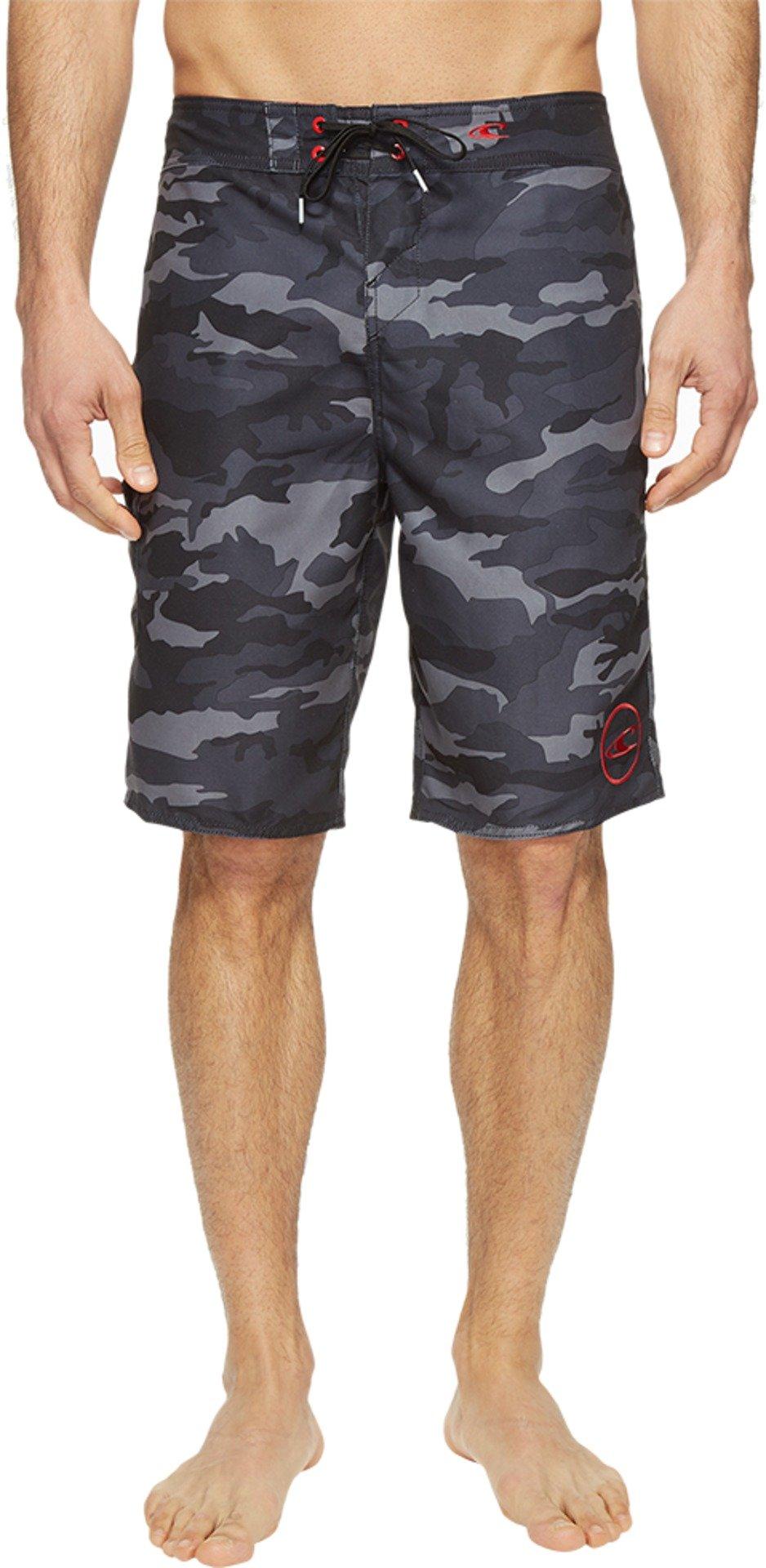 O'Neill Men's Santa Cruz Printed Boardshorts Black Camo Swimsuit Bottoms