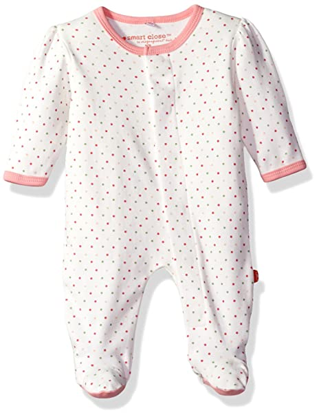 Magnificent Baby Baby Girls Magnetic Smart-Close Footie