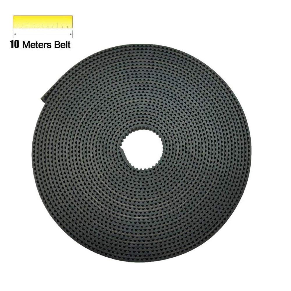 5 Meters GT2 2mm Pitch 6mm Wide Rubber Timing Belt+ 8Pcs 20 Teeth Aluminum Timing Pulley Wheel + Allen Wrench for 3D printer CNC(Prusa i3, Kossel, Rostock, TAZ etc) MYSWEETY