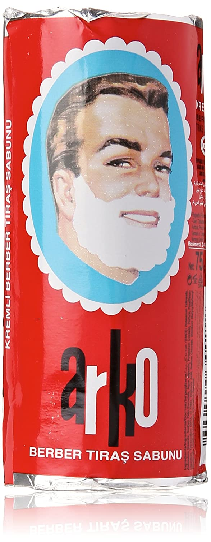 Arko Shaving Soap Stick, White, 12 Count EV116