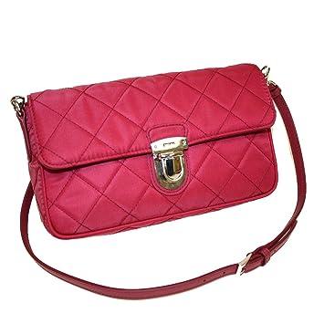 Amazon.com  Prada Tessuto Impuntu Pattina Quilted Nylon Shoulder Bag  BT1025 a34fcaef48440