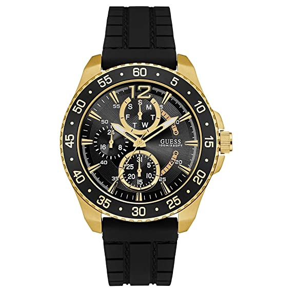 Guess Reloj Cronógrafo para Hombre de Cuarzo con Correa en Silicona W0798G3