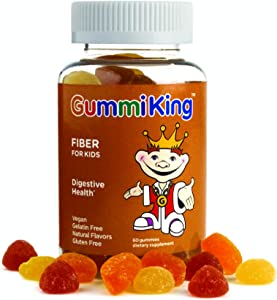 Gummi King Fiber Supplement, Strawberry/Lemon/Orange/Grape/Cherry/Grapefruit, 60 Count