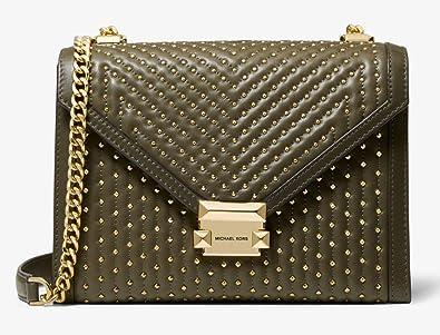 25c1508630d2 Amazon | (マイケル コース) Michael Michael Kors Women`s Whitney Large Studded  Leather Convertible Shoulder Bag レディースラージレザーショルダーバッグ(並行 ...