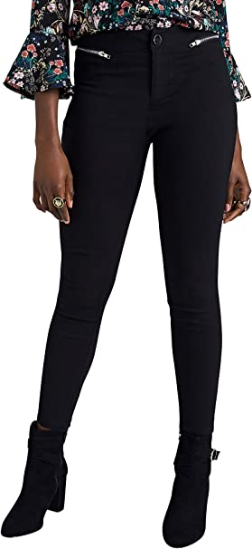 YUMI - Pantalones de chándal con Cremallera, Color Negro Negro ...