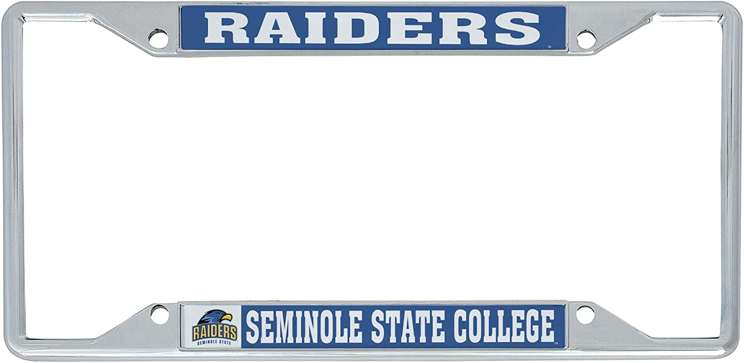 Mascot Desert Cactus Seminole State College Raiders NCAA Metal License Plate Frame for Front or Back of Car Officially Licensed