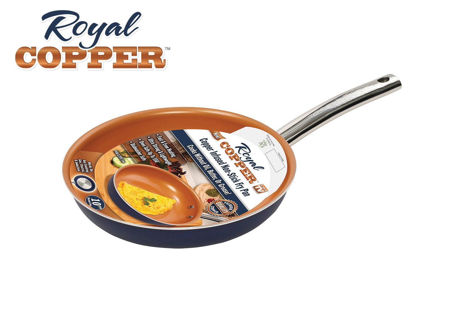 Royal Copper SCRP-MC6 Infused Nonstick Induction Fry Pan, 10 inch