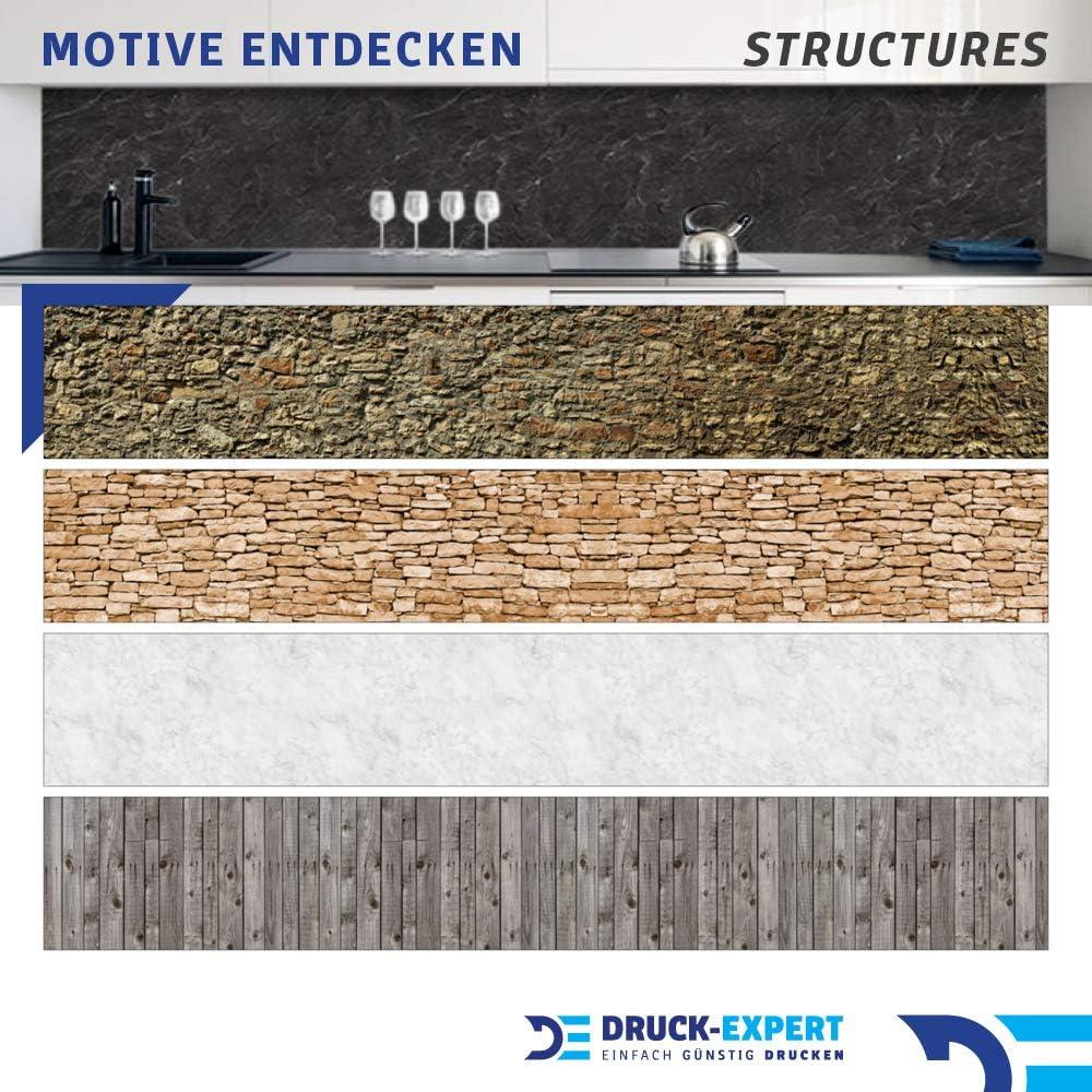 Graz Design 0,4 mm in PVC duro Pannello posteriore per cucina Materialprobe A4 Plastica autoadesivo