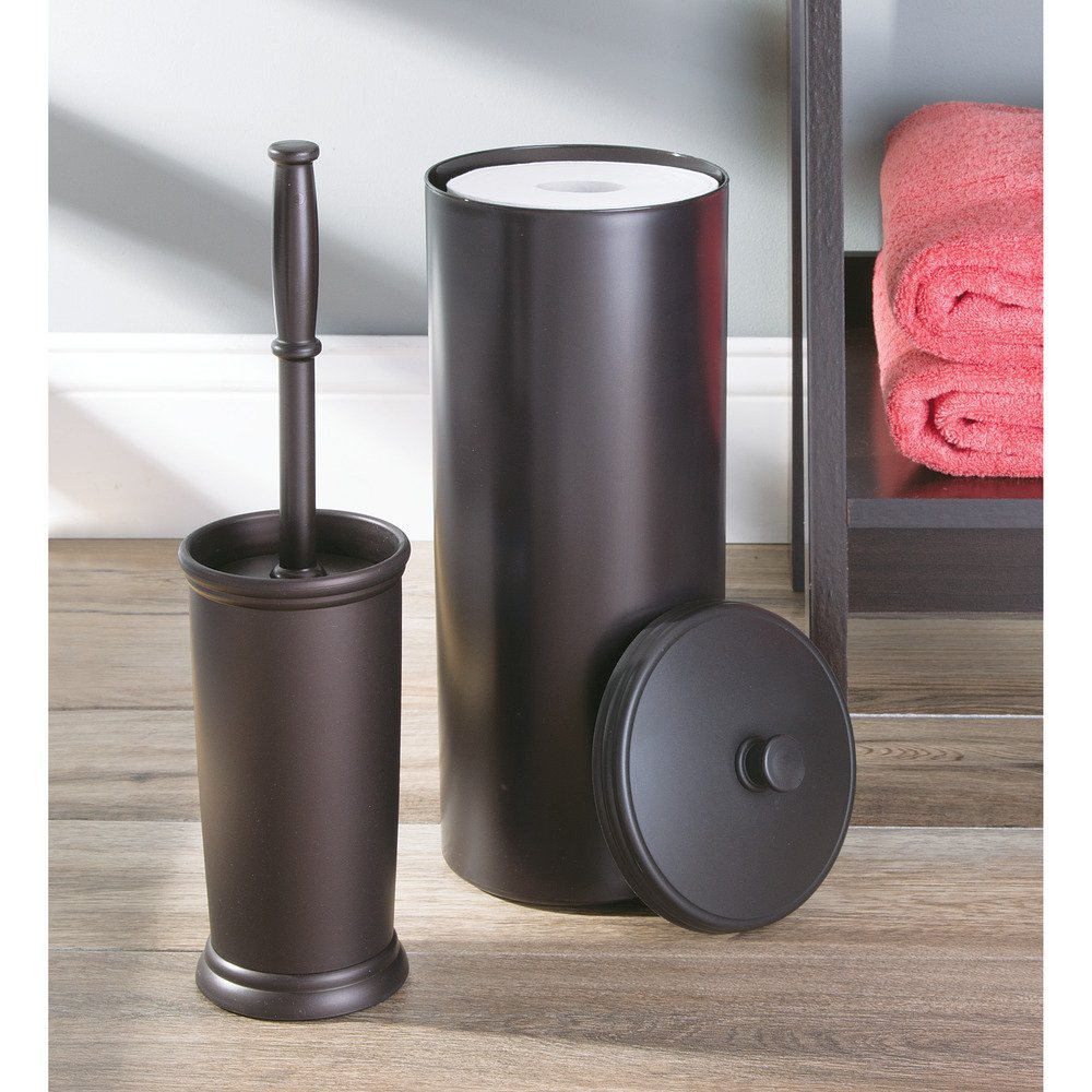 Bon Amazon.com: InterDesign Kent Free Standing Toilet Paper Holder U2013 Spare Roll  Storage For Bathroom, Brown: Home U0026 Kitchen