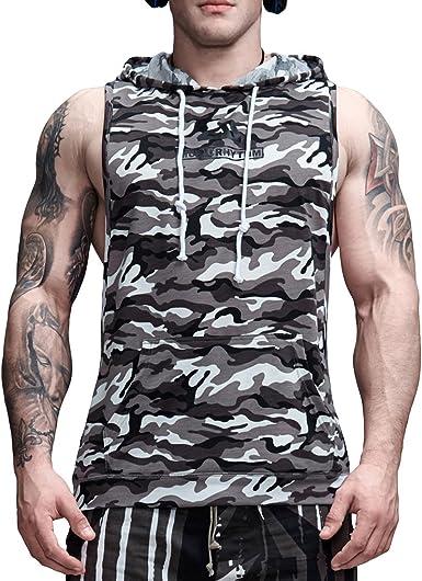 AIMPACT Cotton Sleeveless Tank Top Hoodies Workout Gym Bodybuilding Muscle Shirt