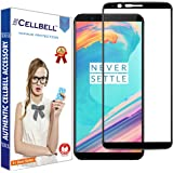 CELLBELL Edge-to-Edge Full Glue Tempered Glass Screen Protector with Installation Kit for OnePlus 5T