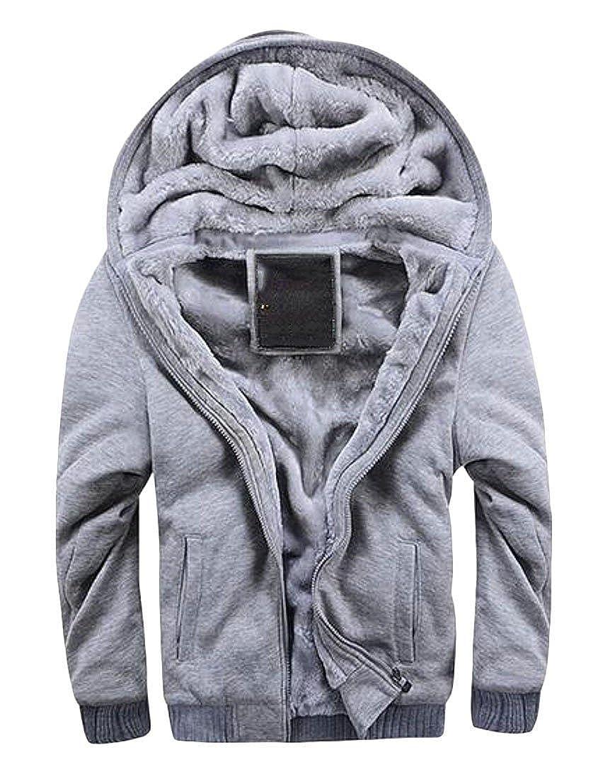 2 Fubotevic Mens Winter Warm Warm Warm Faux Fur Lined Hoodies Sweatshirts Jacket Coat Outerwear d51041