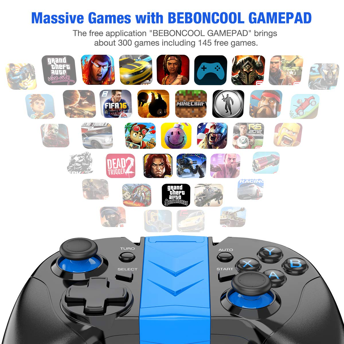 Android Wireless Game Controller, BEBONCOOL Gamepad Remote (for Android  Phone/Tablet / Samsung Gear VR/Emulator) Gear VR Gamepad Controller  Compatible