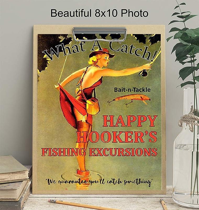 The Happy Hooker Nouveauté Nude Mermaid FISHING LURE Gold /& Noir Avec Étui
