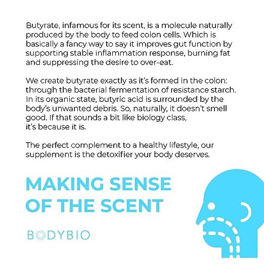 Amazon.com: BodyBio - Butirato de sodio, cadena corta ácido ...