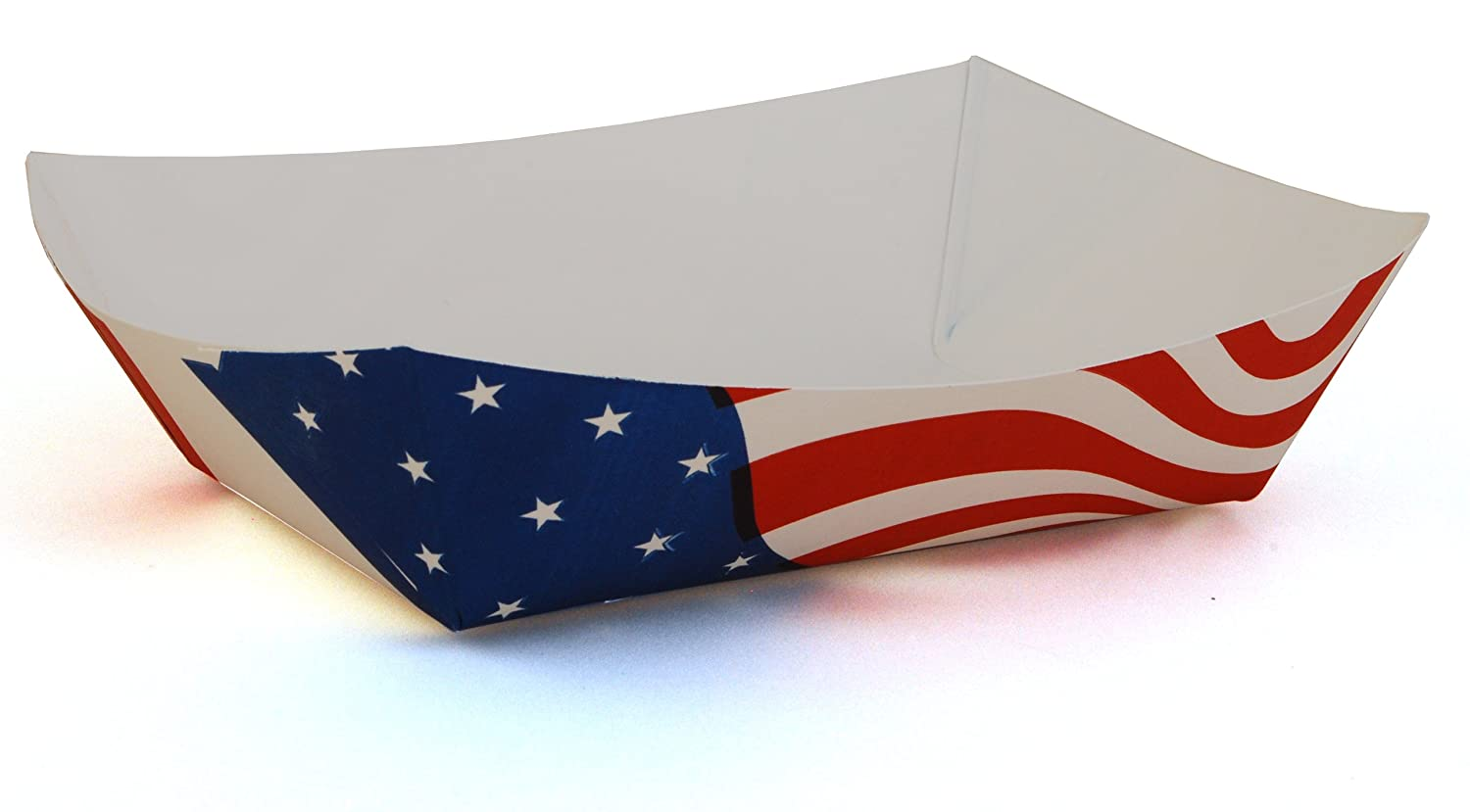 Southern Champion Tray 0537 #500 Paperboard USA Flag Food Tray, 5 lb Capacity (Case of 500)