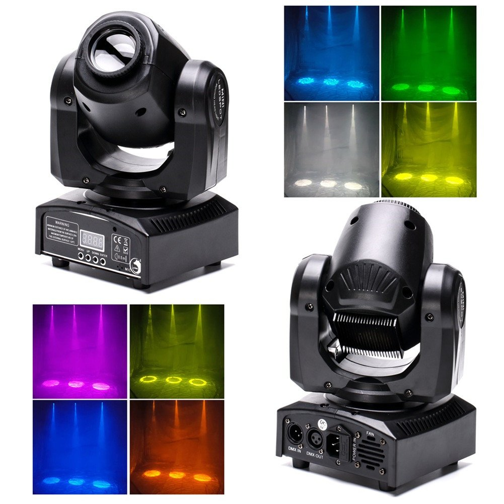 U`King LED Moving Head Light Spot 4 Color Gobos Light 25W DMX with Show KT V Disco DJ Party for Stage Lighting by U`King (Image #5)