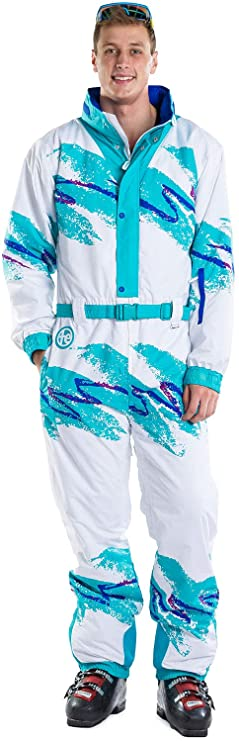 80s Mens Jeans, Pants, Parachute, Tracksuits Tipsy Elves Mens Whistling Dixie Performance Retro Ski Suit - Quality Snowsuit Onesie $199.95 AT vintagedancer.com