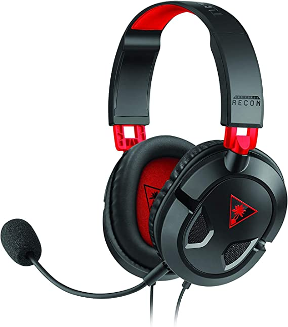 Turtle Beach Recon 50 Auriculares Gaming PC, PS4, PS5, Xbox One y Nintendo Switch, Negro / Rojo: Amazon.es: Videojuegos