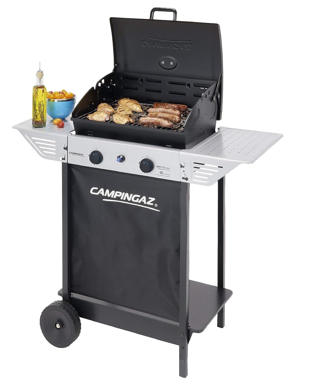 Campingaz Xpert 100 L Plus Rocky Barbacoa Gas para Piedra Volcanica, BBQ gas con 2 quemadores, 7.1kW de potencia, 2 Parrillas, 2 mesas laterales y ...