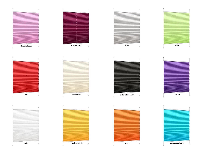 Amazon.de: DecoProfi PLISSEE grau, verspannt, Breite 60cm x 130cm ...