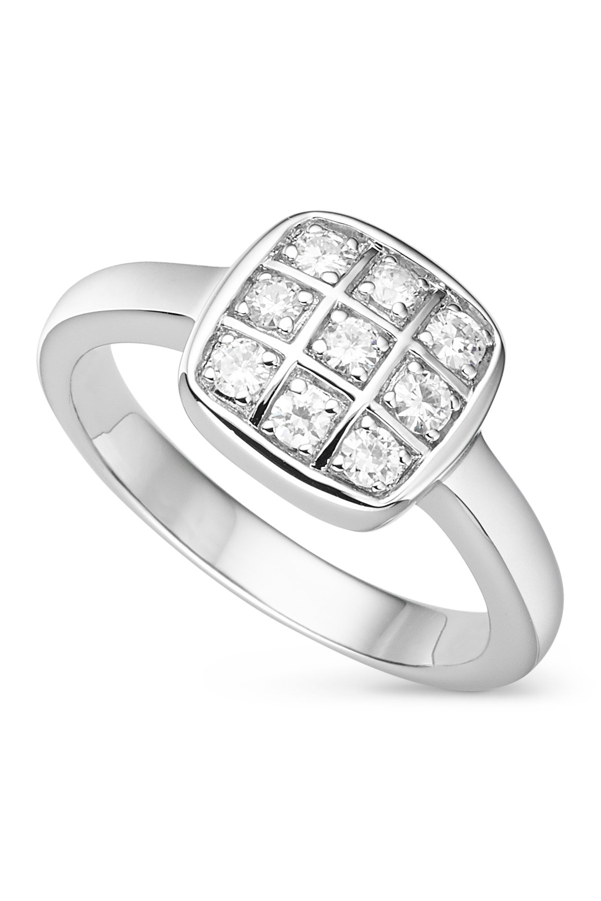 Checkerboard Anderson Forever Classic Moissanite Ring - Size 7 By Charles & Colvard