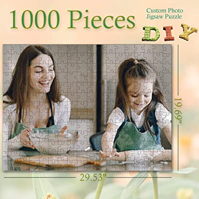 Custom Photo Jigsaw Puzzle for Adults and Children 1000 Pieces DIY Gift, Personalized Art Photo Funny Gifts Custom Puzzles from Photos for Kids Mother's Day Stay at Home Wedding Gifts Family Love: Toys & Games