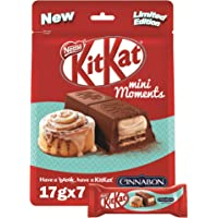 Nestle KITKAT Mini Moments Chocolate Cinnabon, 119g, Red