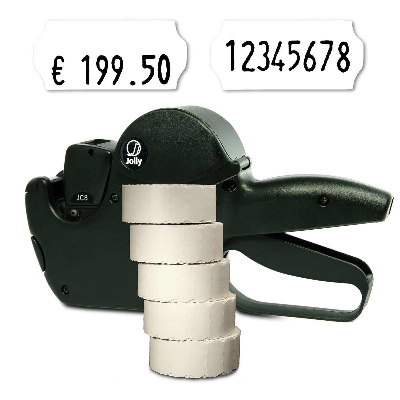 Set: MHD Datumsauszeichner Jolly C8 f/ür 26x12 inkl Aufdruck: mindestens haltbar bis HUTNER 7.500 HUTNER Etiketten weiss permanent