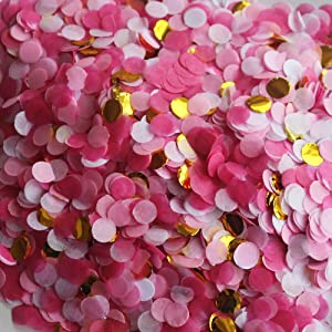 Small Circle Confetti for Party Decor 10mm - Pack of 20 Grams - Pink Gold
