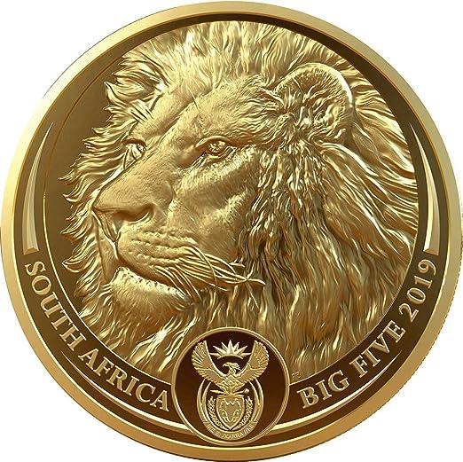 Power Coin Lion Leon Big Five 1 Oz Moneda Oro 50 Rand South Africa ...