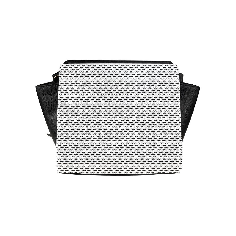 meincare Women's Mustache Pattern PU leather Satchel Bag