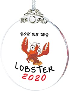 IFOLAINA 2020 Christmas Ornaments You are My Lobster Quarantine Lovers Gift Tree Hanging Ornaments Married Couple Present Wedding Ceremony Friends Survive Pendant Novelty Souvenir