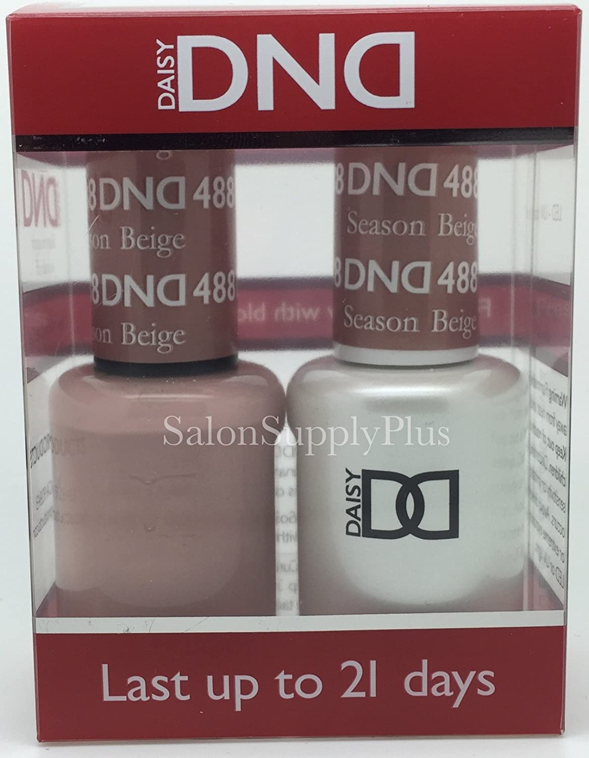 Amazon.com: DND Gel & Matching Polish Set (488 Season Beige): Health ...